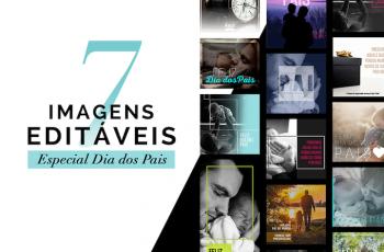 7 modelos de publicações com fotos para Facebook e Instagram  para o dia dos pais