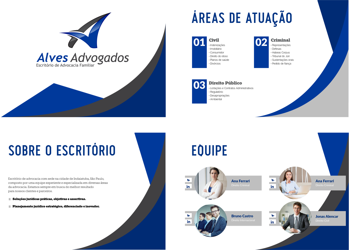 Modelo de slides para apresentação de advogados profissionais