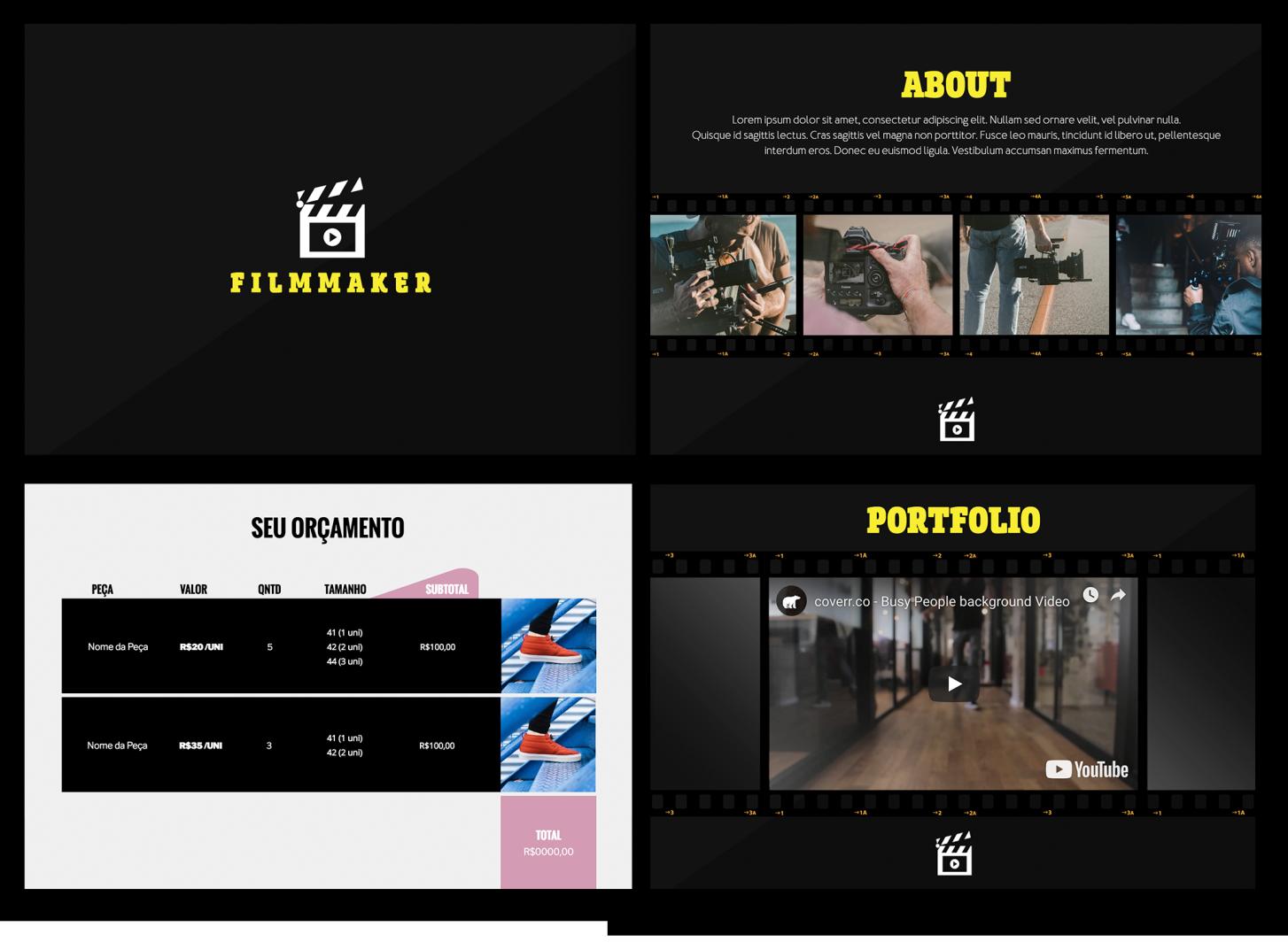 filmmaker proposal - Proposta de prestação de serviços : 10 formatos e modelos que fecham vendas