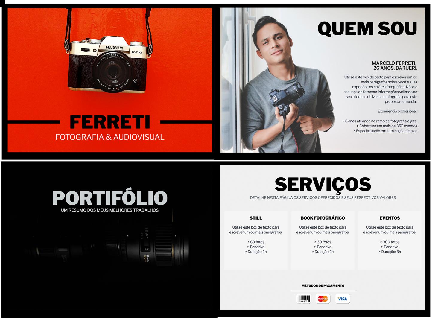 fotografo proposta trakto - Proposta de prestação de serviços : 10 formatos e modelos que fecham vendas