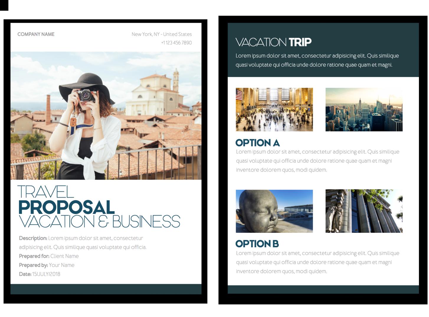 travel proposal 1 - Proposta de prestação de serviços : 10 formatos e modelos que fecham vendas