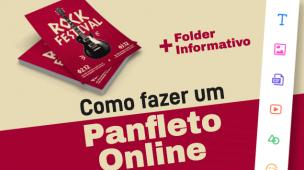 como fazer um panfleto online