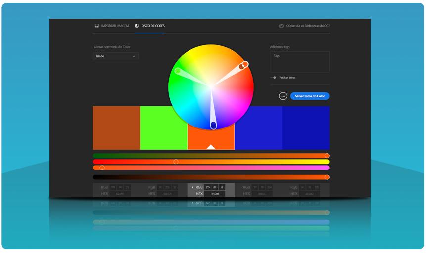 Combinar cores: Adobe Colors