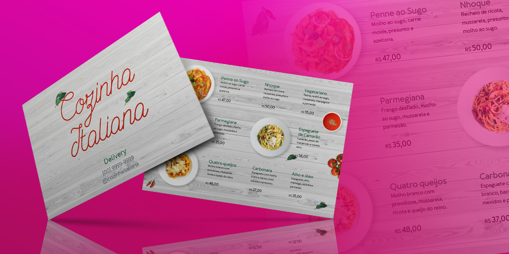 Divulgar restaurante online: Modelos de cardápio digital