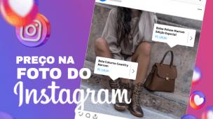 como colocar preços nas fotos no instagram