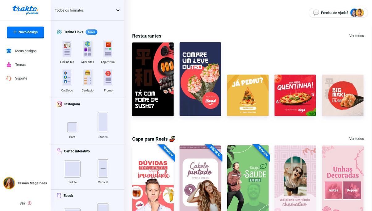 trakto dashboard - Como criar artes com a Trakto, o editor mais fácil da Internet
