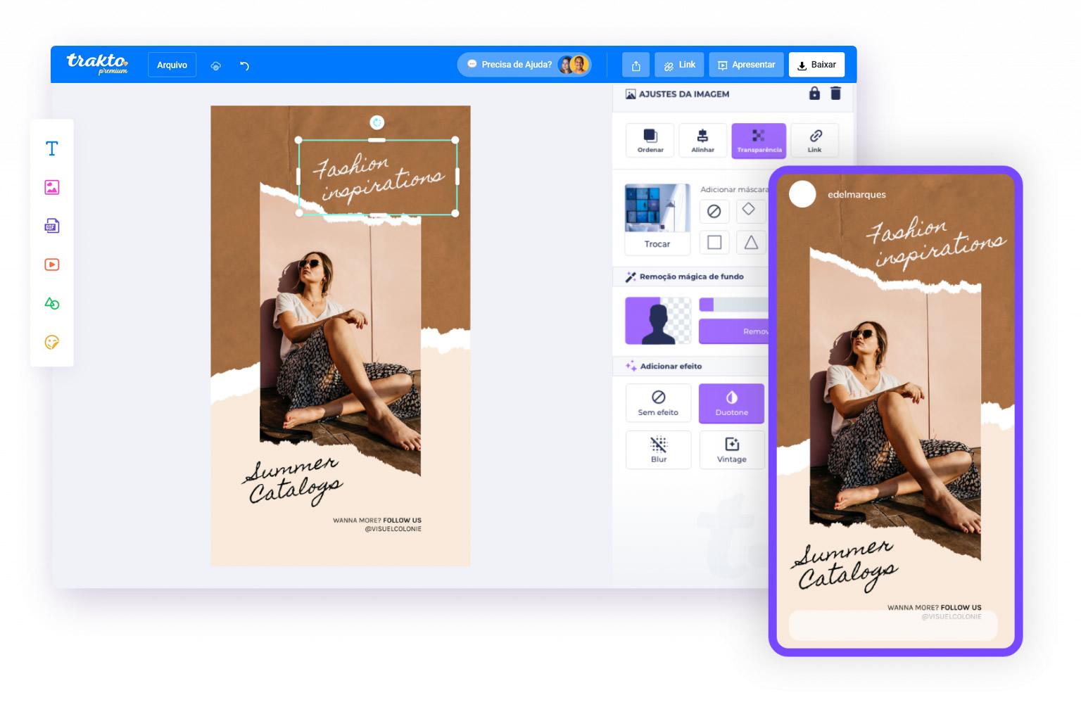 trakto editor 1 - Como criar artes com a Trakto, o editor mais fácil da Internet