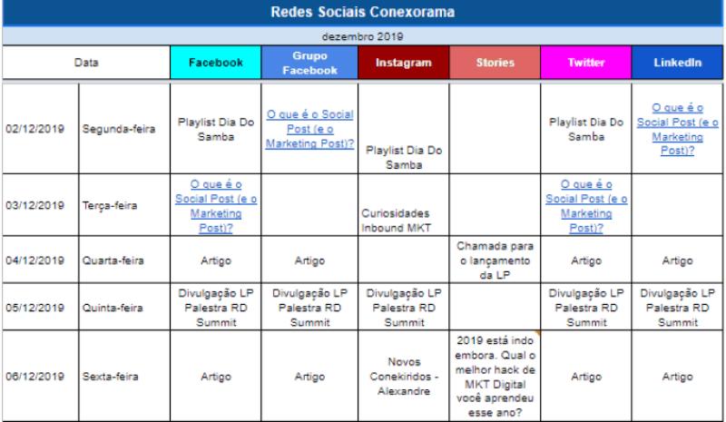 calendarioeditorialredessociais2 - Calendário editorial para redes sociais: passo a passo para montar um