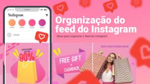 organização do feed do instagram