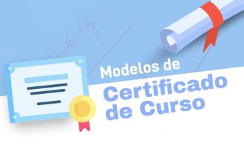 Modelos de certificado de curso online ou presencial prontos para usar