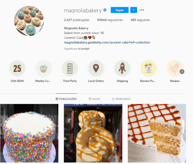 bioparainstagramdedoces3 - Como criar uma bio para Instagram de doces de dar água na boca?