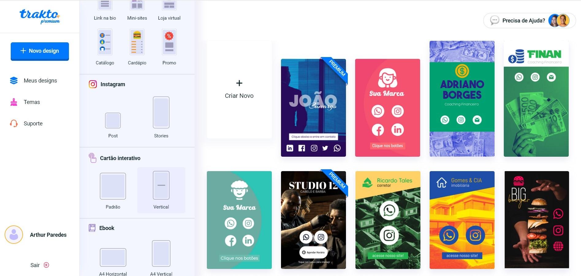 cartao de visitas digital trakto modelos - Como fazer cartão de visitas digital: tamanho e modelos prontos para usar