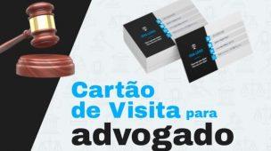 exemplos de cartão de visita de advogado
