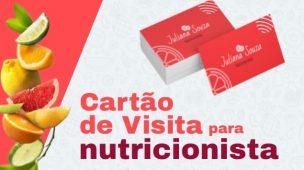 exemplos de cartão de visita para nutricionista