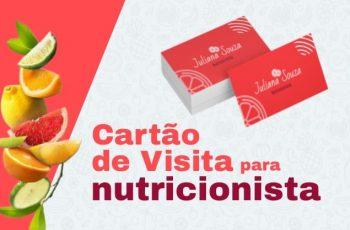 Exemplos de cartão de visita para nutricionista: 5 referências para conhecer