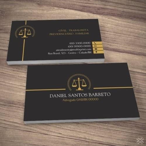 exemplosdecartaodevisitaadvogado1 - Melhores exemplos de cartão de visita de advogado: top 5 originais