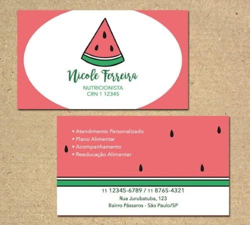 exemplosdecartaodevisitaparanutricionista1 - Exemplos de cartão de visita para nutricionista: 5 referências para conhecer