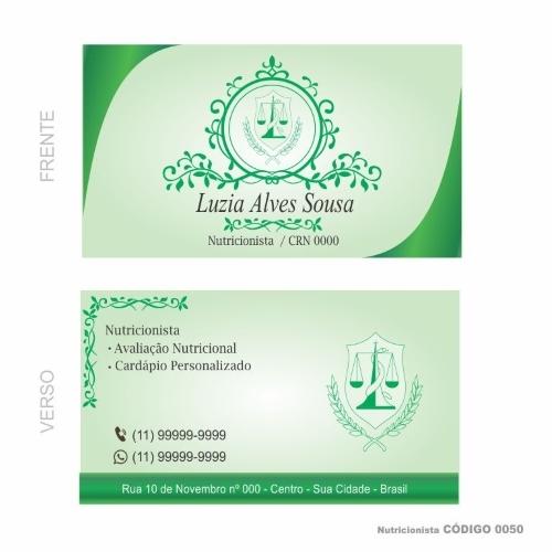 exemplosdecartaodevisitaparanutricionista4 - Exemplos de cartão de visita para nutricionista: 5 referências para conhecer