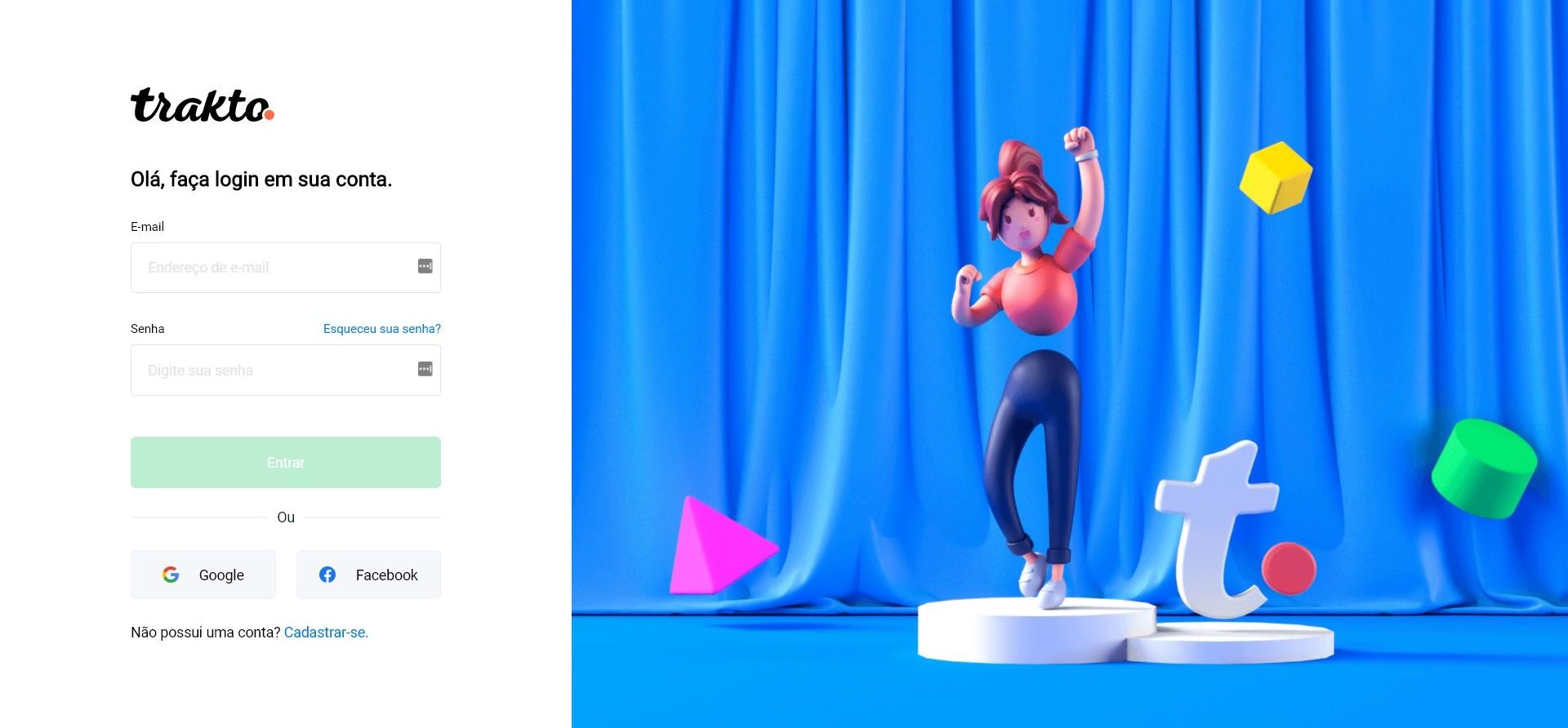 trakto tela logi - Como fazer cartão de visitas digital: tamanho e modelos prontos para usar