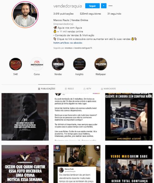 perfildevendedoornoinstagram1 - Como montar um perfil de vendedor no Instagram MARCANTE?