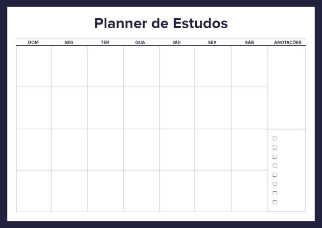 comocriarumplannerdeestudos1 - Como criar um planner de estudos genial sem enrolações?
