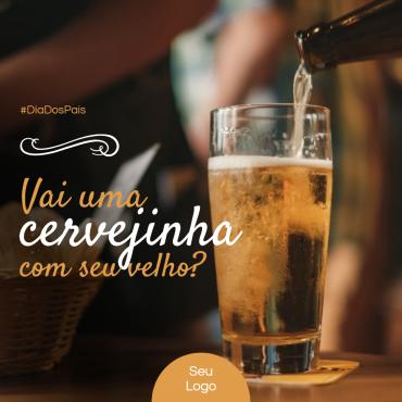 Post Dia dos Pais Cerveja clone 370x370 - Modelos de posts para o dia dos pais para Facebook e Instagram