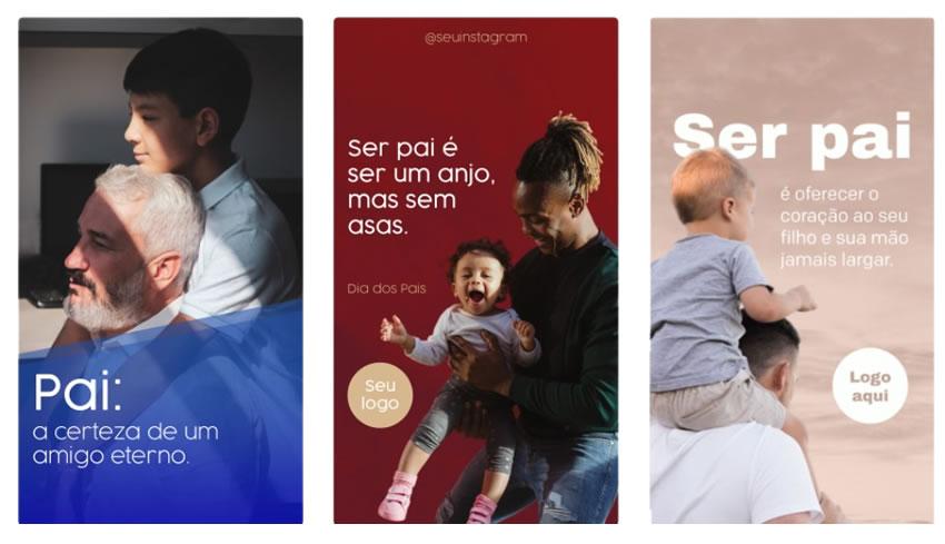 dia dos pais trakto stories - Modelos de posts para o dia dos pais para Facebook e Instagram