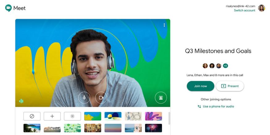 google meet background - Como escolher plano de fundo para chamadas de vídeo